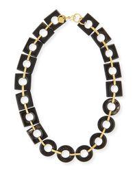 Ashley Pittman - Black Mbele Dark Horn Geometric Link Necklace - Lyst