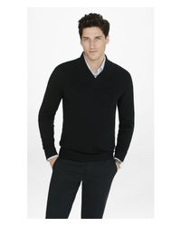 Express | Black Merino Wool Shawl Collar Sweater for Men | Lyst