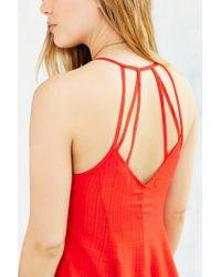 Glamorous | Orange Strappy-back Skater Dress | Lyst