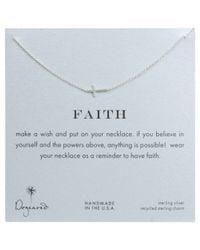 Dogeared | Metallic Sterling Silver Faith Sideways Cross Necklace | Lyst