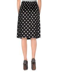 Jucca - Black Knee Length Skirt - Lyst