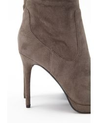 Forever 21 - Brown Faux Suede Over-the-knee Boots - Lyst