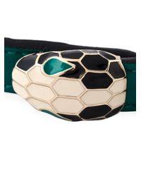 BVLGARI | Green 'serpenti' Bracelet | Lyst