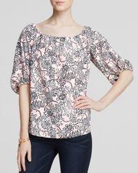 Cooper & Ella - Pink Blouse - Madelyn Off The Shoulder Floral Print - Lyst