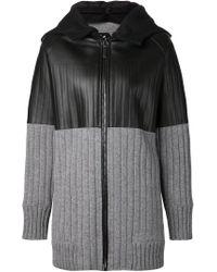 Vera Wang | Gray Contrast Cardi-coat | Lyst