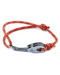 Anchor & Crew | All Red Rothesay Rope Bracelet for Men | Lyst