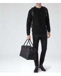 Reiss - Black Troy Patterned Sweatshirt for Men - Lyst