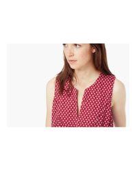 Mango - Red Elastic Waist Dress - Lyst