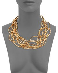 Nest - Metallic Twisted Collar Necklace - Lyst