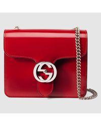 a733e89e9 Gucci Exclusive Gucci Interlocking Bag in Red - Lyst