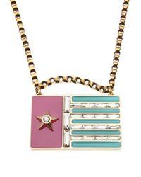 Lanvin   Multicolor 'calvi' Flag Necklace   Lyst