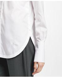 Brooks Brothers - White Non-iron Cotton Dobby Tunic Shirt - Lyst