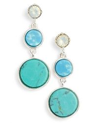 Anne Klein | Green Triple Drop Earrings | Lyst