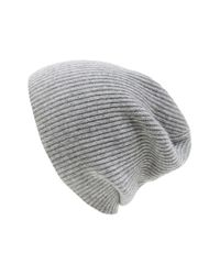 Vince - Gray Ribbed & Marled Cashmere Beanie for Men - Lyst