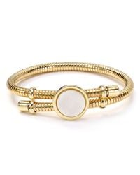 Aqua | White Mila Expandable Bangle | Lyst