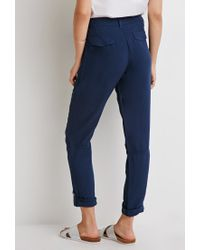 Forever 21 - Blue Contemporary Zippered Moto Pants - Lyst