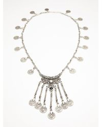Free People | Metallic Womens Ebony Coin Layering Necklace | Lyst