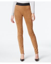 INC International Concepts | Natural Faux-suede Pull-on Skinny Pants, Only At Macy's | Lyst