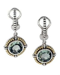 Lord & Taylor | Metallic Balissima Green Amethyst, Sterling Silver And 18k Yellow Gold Earrings | Lyst