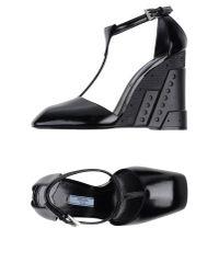 Prada - Black Sandals - Lyst