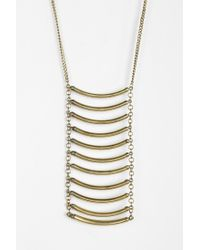 Urban Outfitters - Metallic Ladder Necklace - Lyst