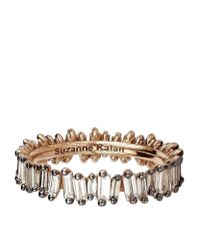 Suzanne Kalan | Metallic Rose Gold Baguette Champagne Diamond Ring | Lyst