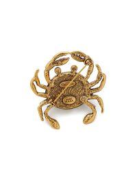 Oscar de la Renta - Pave Crab Brooch - Black Diamond - Lyst