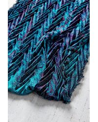 Urban Outfitters   Blue Paisley Pleated Eternity Scarf   Lyst