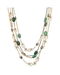Alexis Bittar | Green Gold Muse D'or Link Multi Strand Scalloped Necklace | Lyst