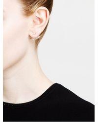 Yvonne Léon | Metallic Diamond Lobe Earring | Lyst