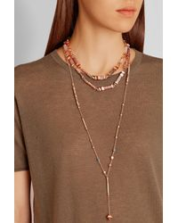 Eddie Borgo | Multicolor Plinth Rose Gold-plated Multi-stone Necklace | Lyst