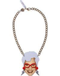 Tatty Devine - Brown Sue Kreitzman Portrait Necklace - For Women - Lyst