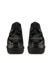 Stella McCartney - Black Elyse Lace-Up Platform Shoes - Lyst