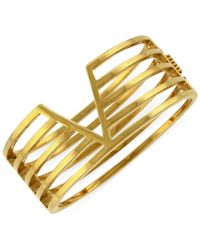 Vince Camuto - Metallic Multi-Bar V Hinged Bangle Bracelet - Lyst