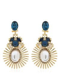 Anton Heunis | Blue Bollywood Princess Collection Earrings | Lyst