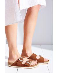 Birkenstock - Brown Arizona Sport Soft Footbed Slide - Lyst