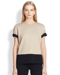 Max Mara - Natural Rolle Colorblock Top - Lyst
