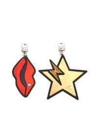 Stella McCartney | Yellow Star And Lips Earrings | Lyst