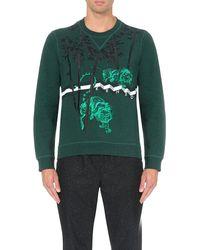 KENZO - Green Tiger Bamboo Cotton-jersey Sweatshirt for Men - Lyst