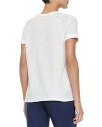 Vince - Gray Button-Front Linen Sweatpants - Lyst