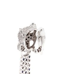 CZ by Kenneth Jay Lane - Metallic Cubic Zirconia Pavé Leopard Head Earrings - Lyst