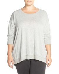 BB Dakota | Gray 'velletta' Long Sleeve Knit Top | Lyst