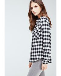 Forever 21 - Black Flannel Gingham Western Shirt - Lyst