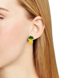 kate spade new york - Yellow Any Way You Slice It Stud Earrings - Lyst
