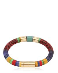 Isabel Marant | Metallic Strips Multi Colored Bracelet | Lyst