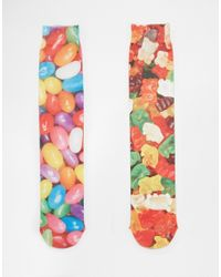 ASOS - Multicolor 2 Pack Socks With Sweets Print for Men - Lyst