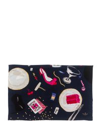 kate spade new york - Multicolor Party Table Scene Scarf - Lyst