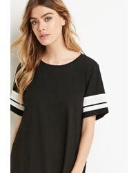 Forever 21 | Black Varsity-striped T-shirt Dress | Lyst