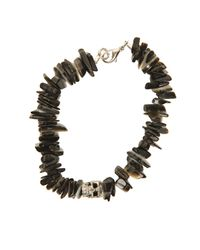 Duchess Of Malfi | Black Lip Shell Bracelet With Skull | Lyst