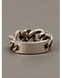 Werkstatt:münchen | Metallic Chainlink Ring for Men | Lyst